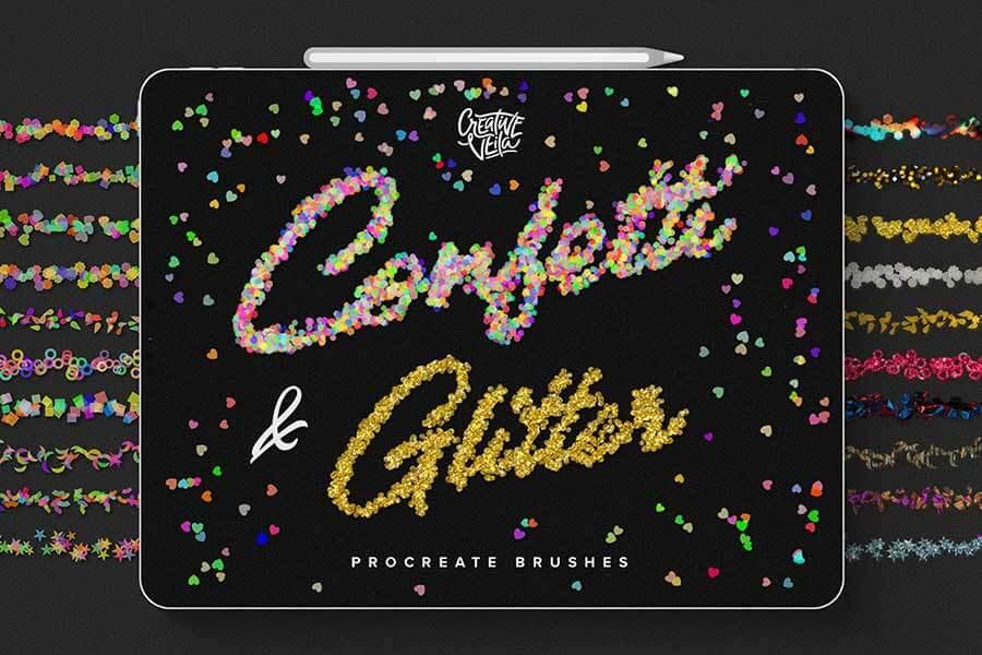 Confetti and Glitter Procreate Brushes