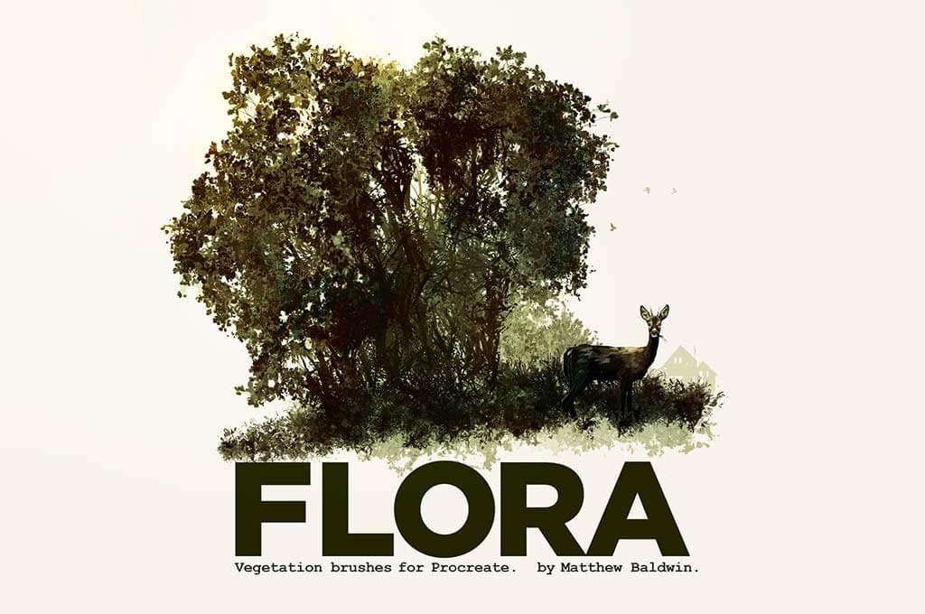 Flora Vegetation Brushes for Procreate