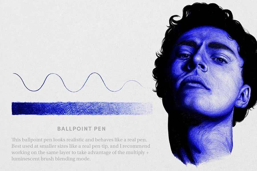 Free Ballpoint Pen Brush