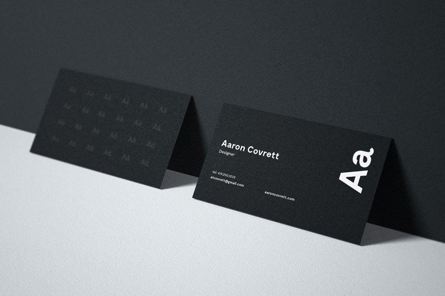 Granite Business Card Mockup