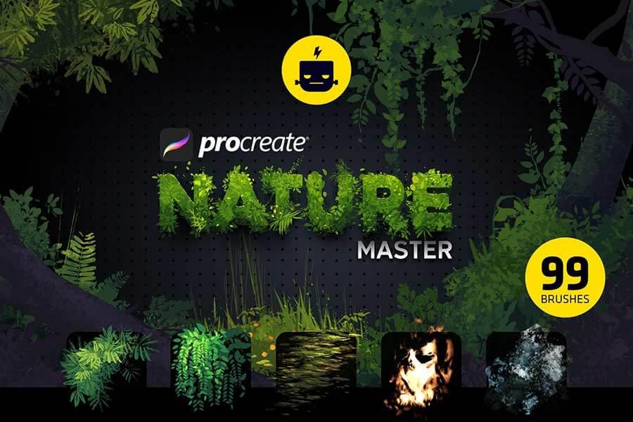 Nature Master Brushes for Procreate