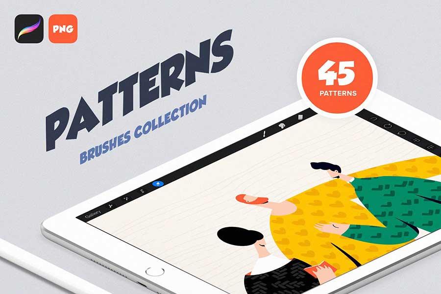 Procreate Patterns Brushes Set