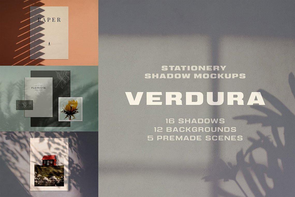 Verdura Shadow Stationery Mockup Set