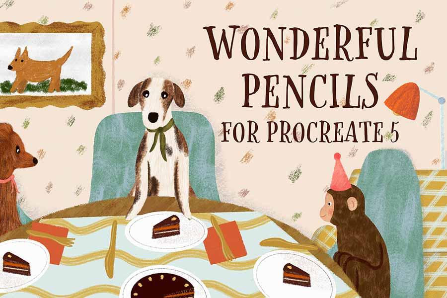 Wonderful Pencil Brushes for Procreate