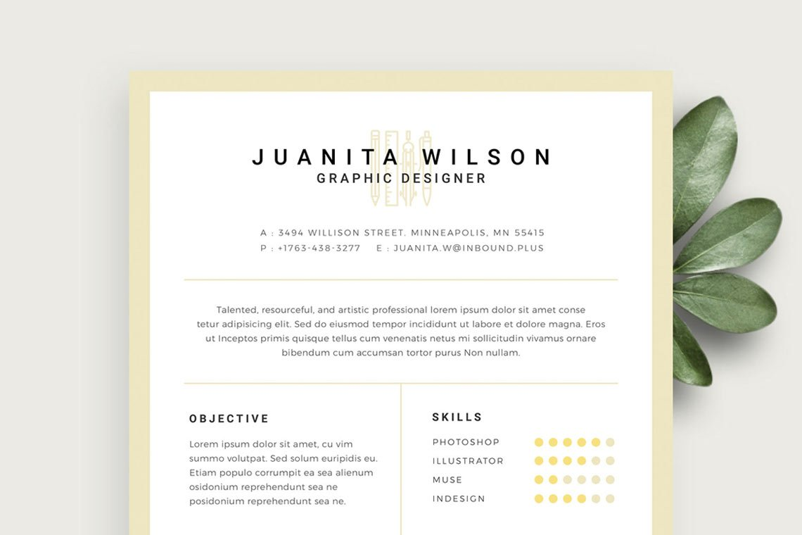 Clean Resume Template PSD