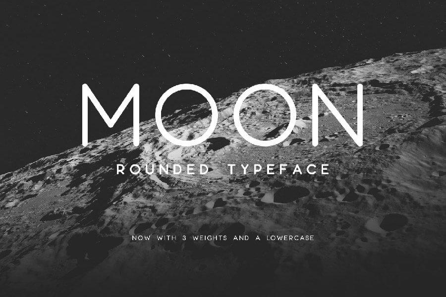 Moon Round Typeface
