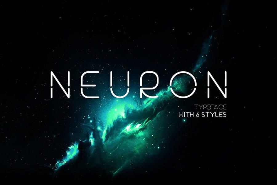Neuron Spatial Typeface