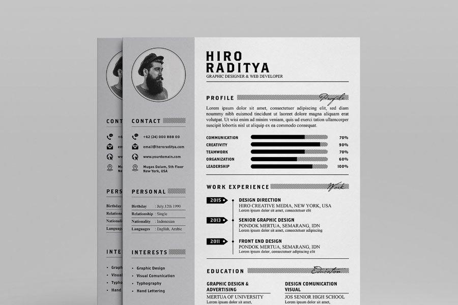 Resume & Portfolio Template – YA