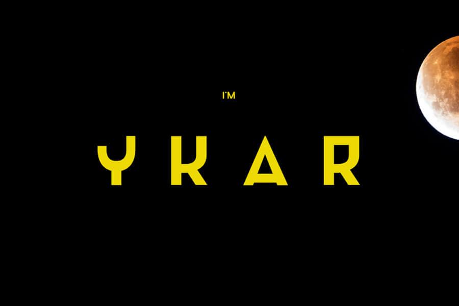 YKAR Free Font