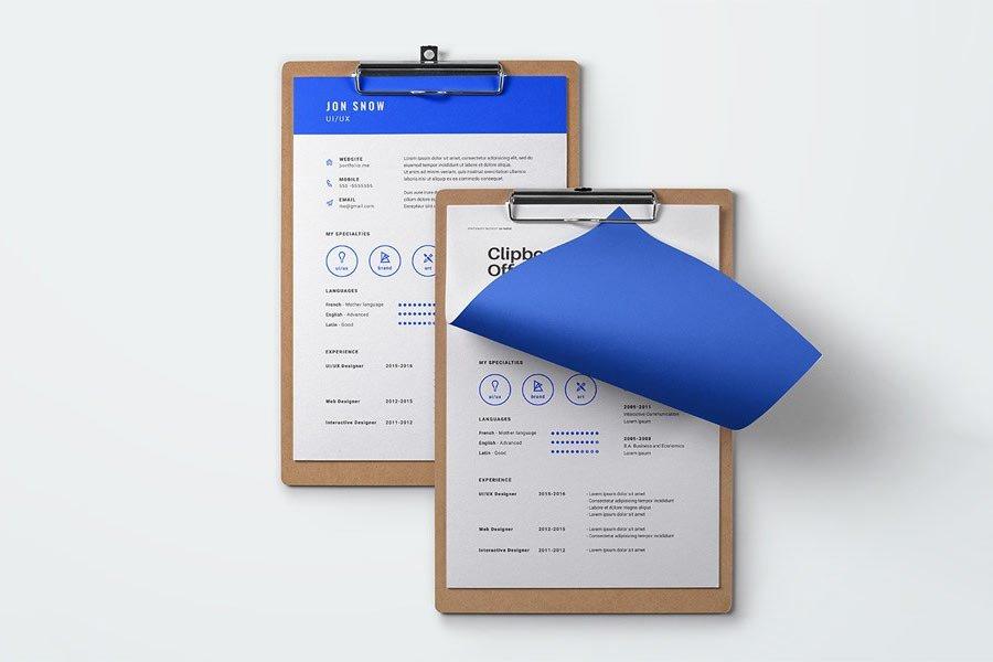 Blue Resume