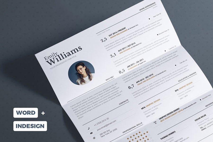 Typographic Resume Template
