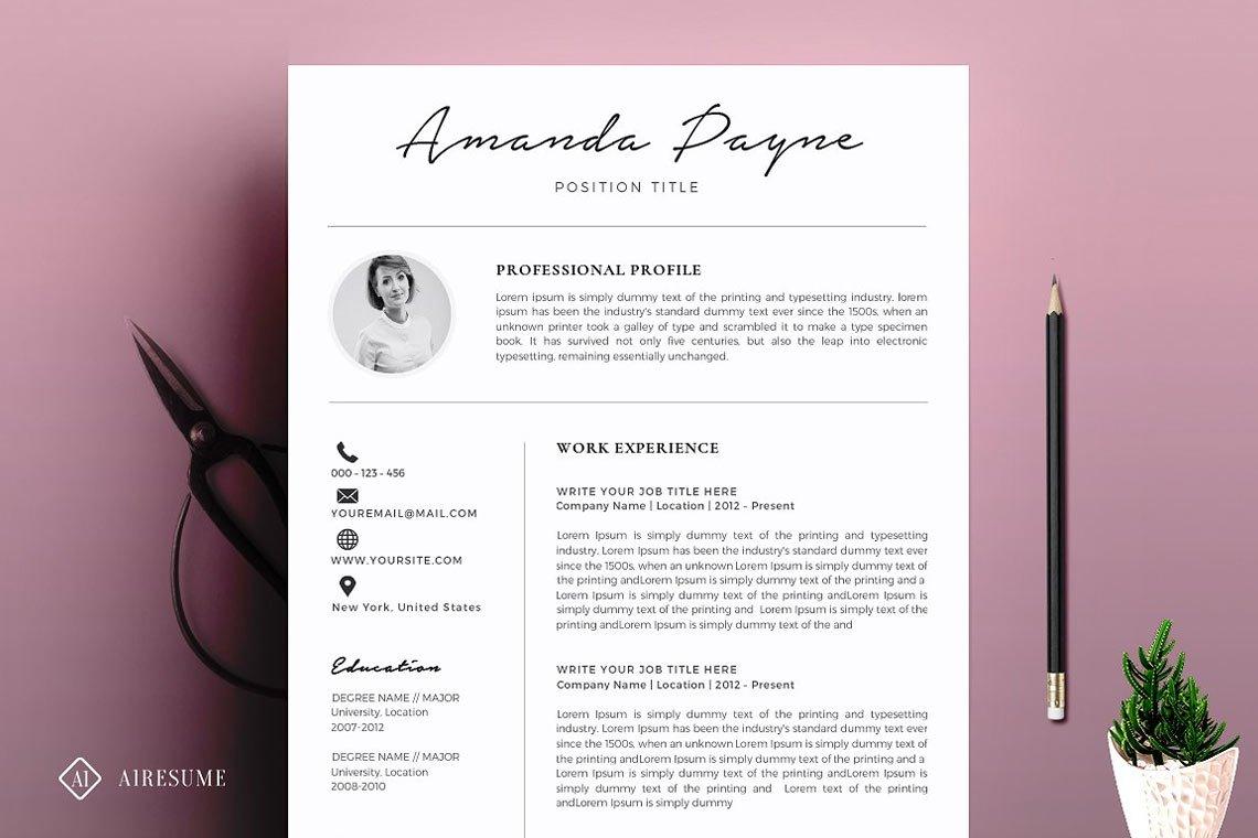 Minimal Resume/CV Template + Bonus