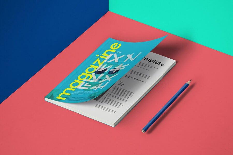 A5 Psd Magazine Mockup