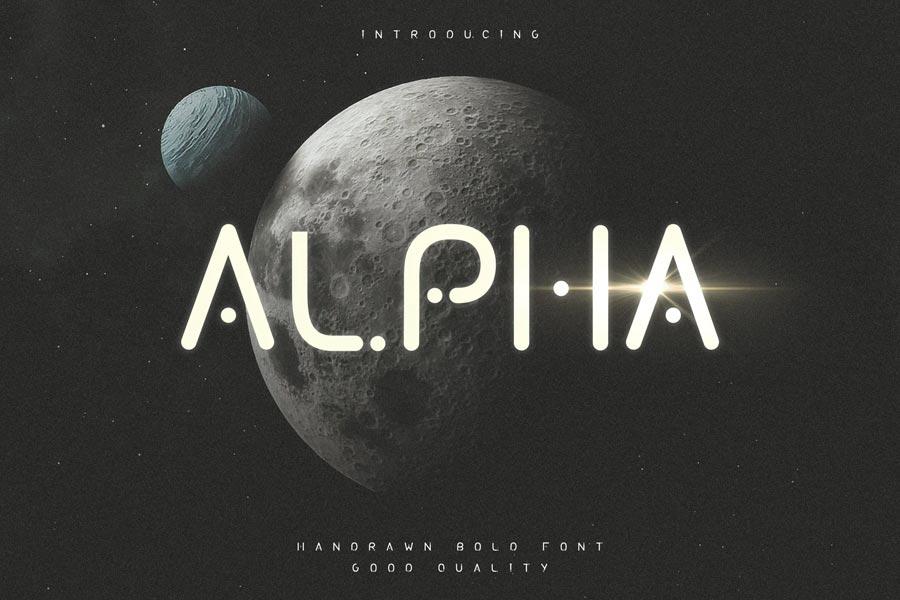 Alpha Futuristic Display Typeface