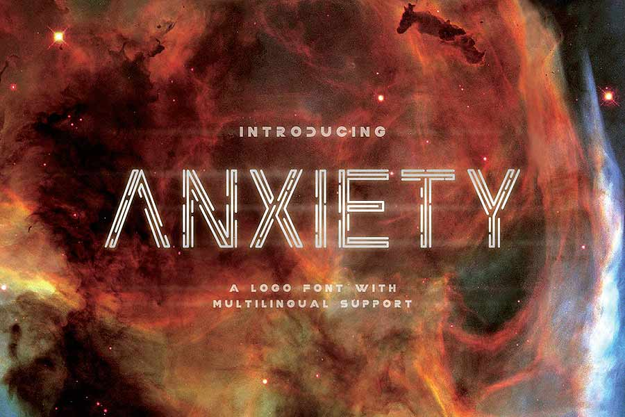 Anxiety Sci-Fi Font