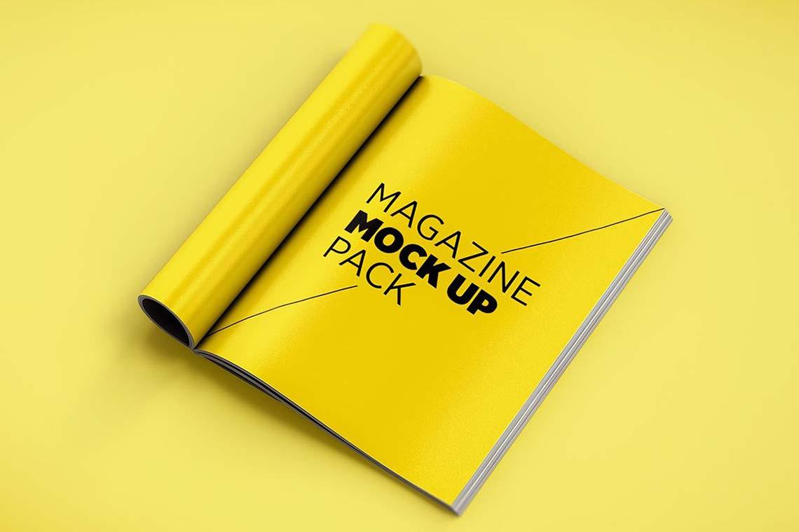 Magazine Mockup Scenes Kit