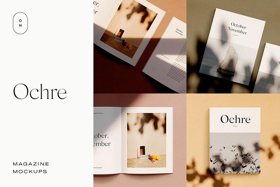 Ochre — Magazine Mockups