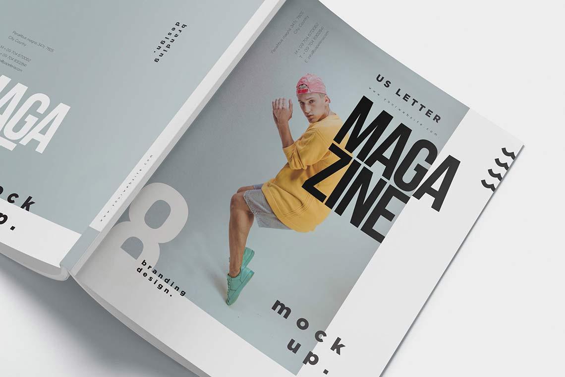 US Letter Size Magazine Mockups