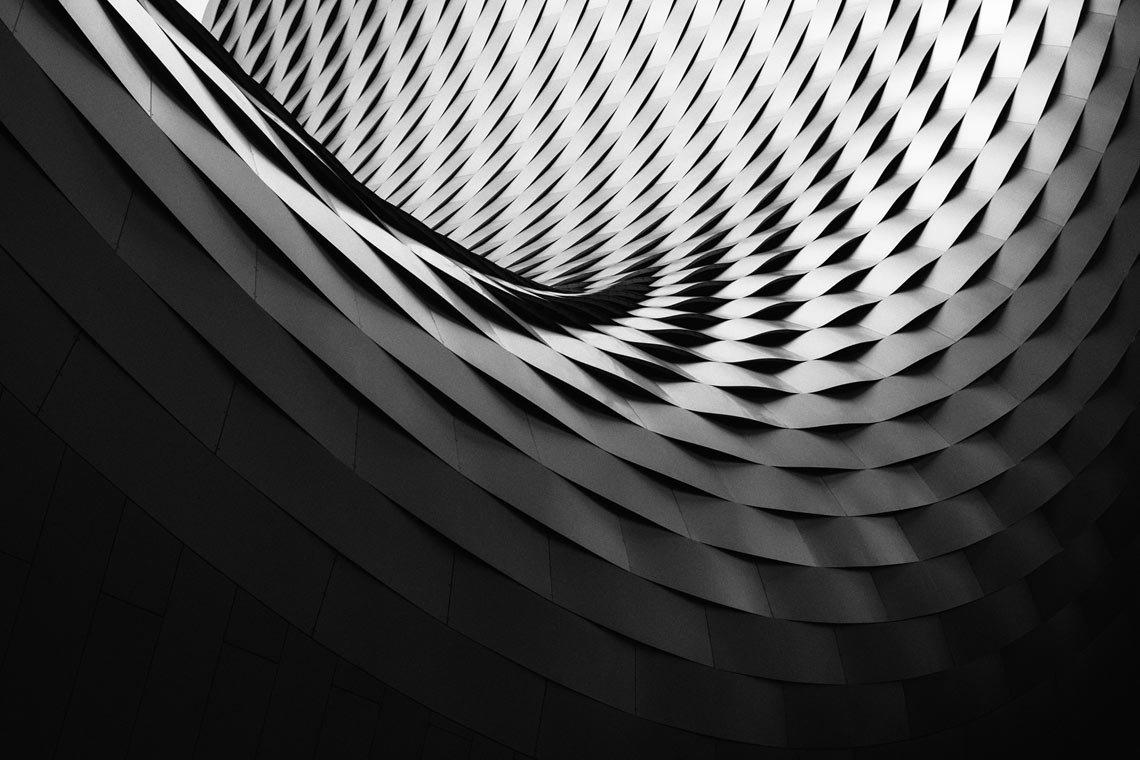 Abstract spiral pattern wallpaper by Samuel Zeller