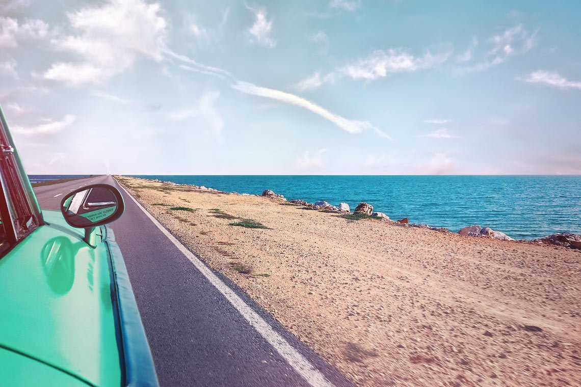 Driving by the beach wallpaper by Simon Matzinger