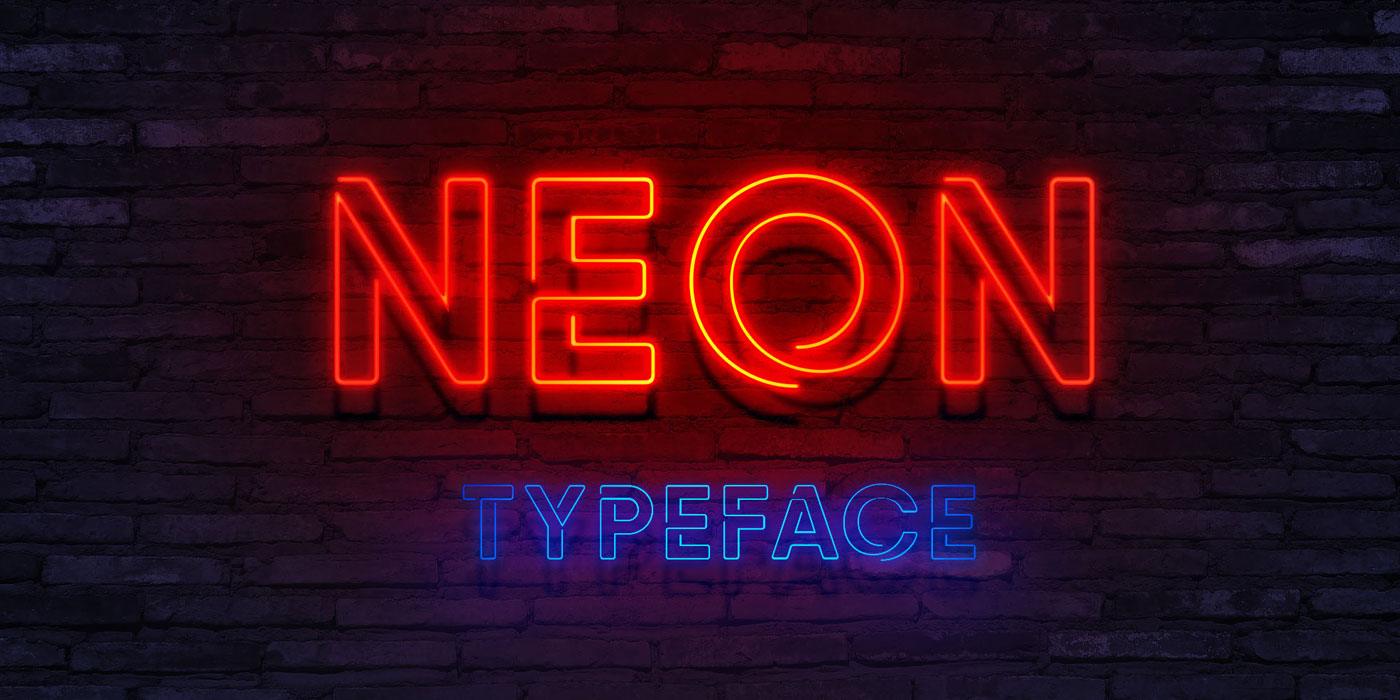 20 Cosmic Neon Fonts For Your Dope Designs The Designest