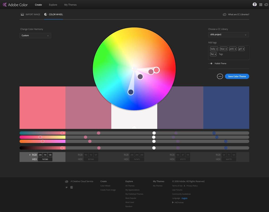 Adobe Color CC - Color Wheel