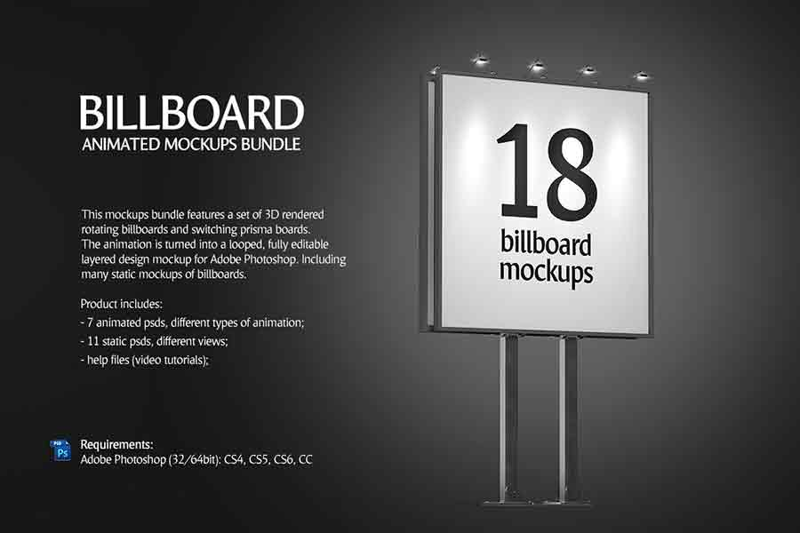 Animated Billboard Mockup Bundle