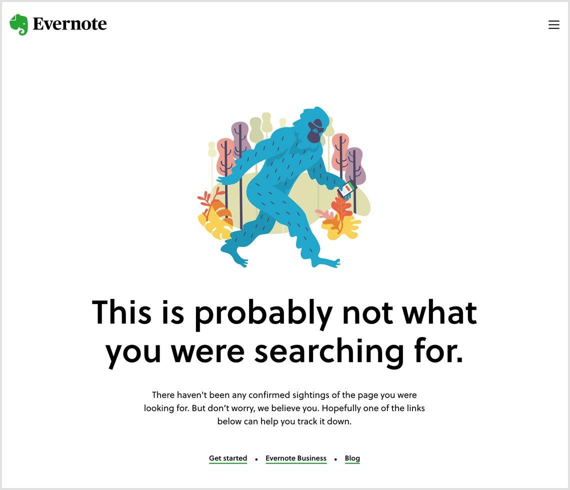 Evernote 404 page