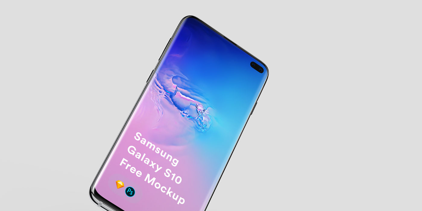 🚀 Free Galaxy S10 mockups: PSD & Sketch - The Designest
