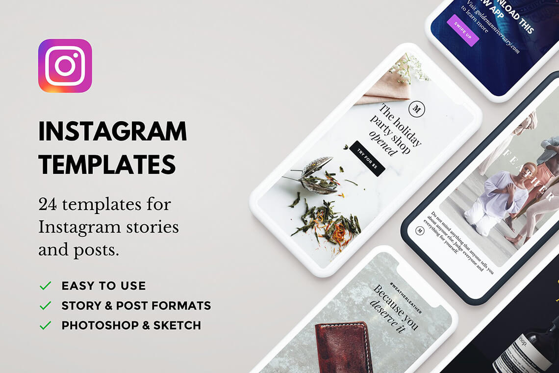 Lush 24 Instagram Templates