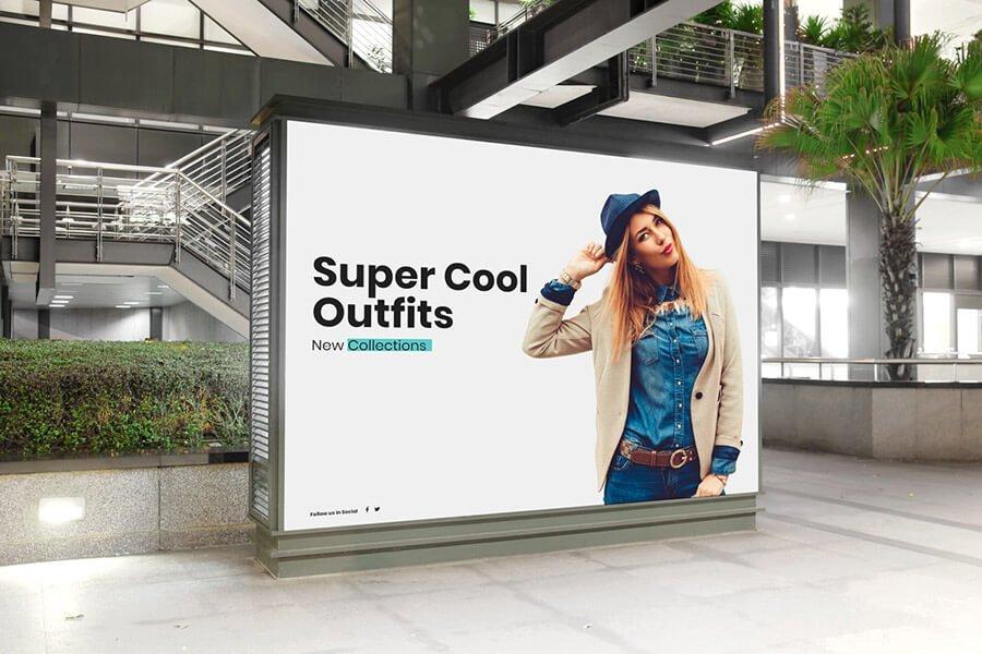 Mall Indoor Billboard Mockup