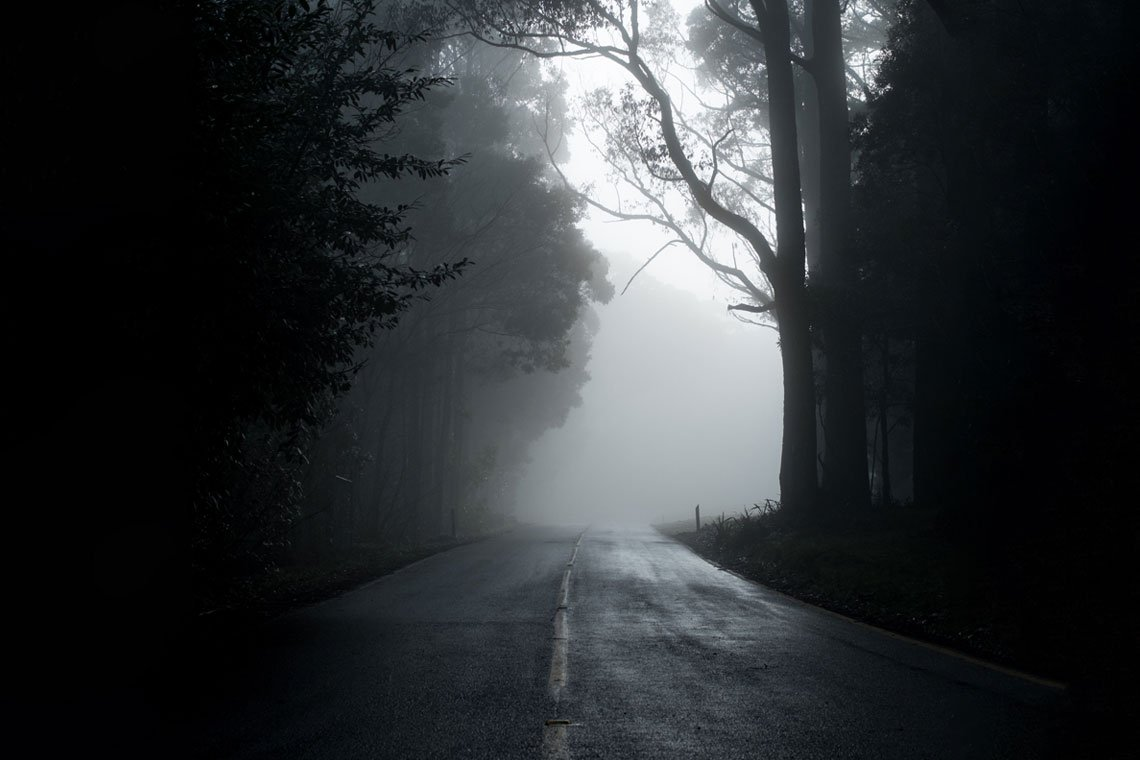 Misty road wallpaper by Michael Mouritz