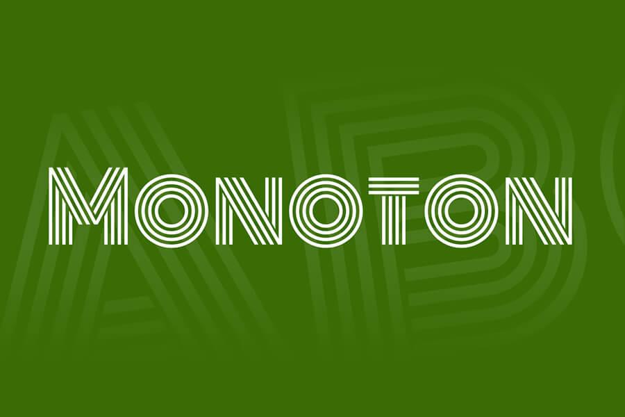 Monoton Free Font