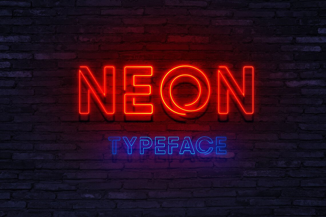 photo about Printable Fonts for Signs identified as 🚀 20 Cosmic Neon Fonts for Your Dope Layouts - The Designest
