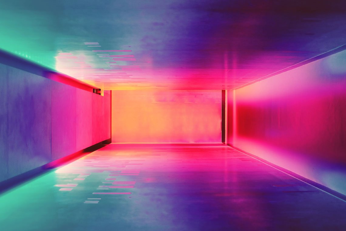 Neon room by Efe Kurnaz