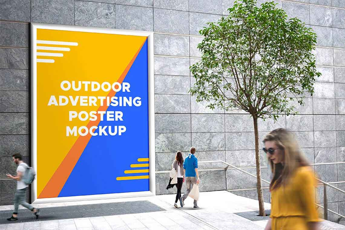 Outdoor Advertising Banner Mockup
