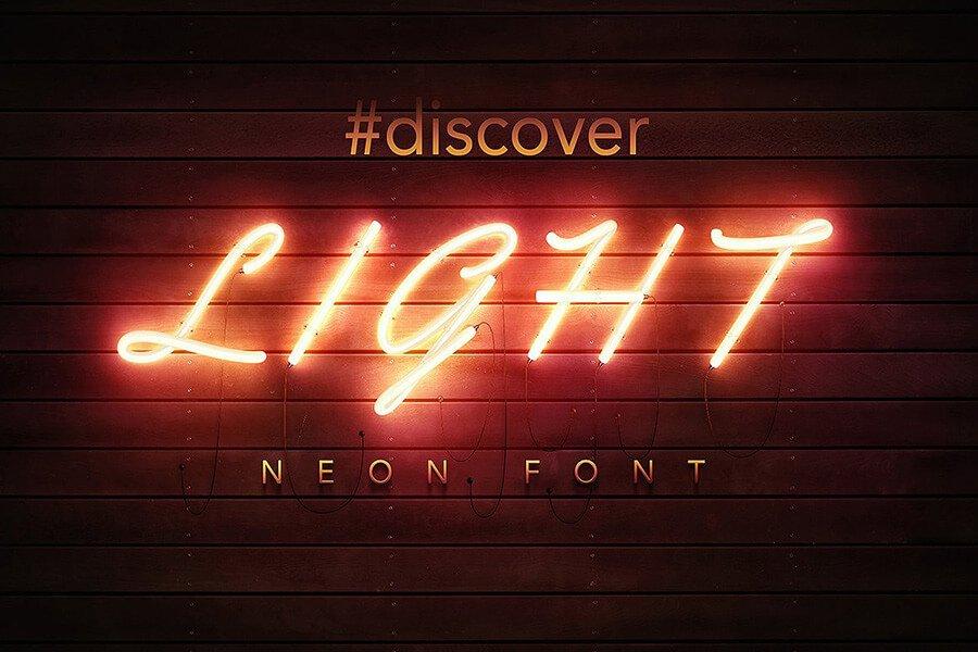 PSD Neon Font