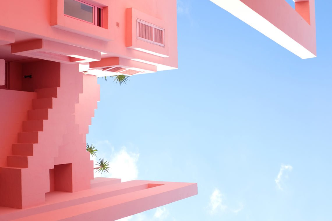 Pink building wallpaper by @beasty