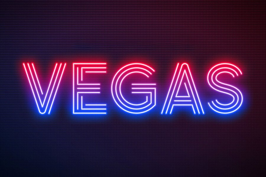 Realistic Neon Light Font