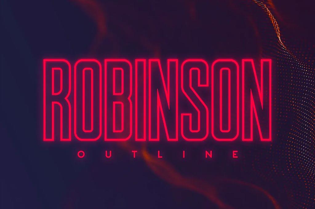 Robinson Outline Font