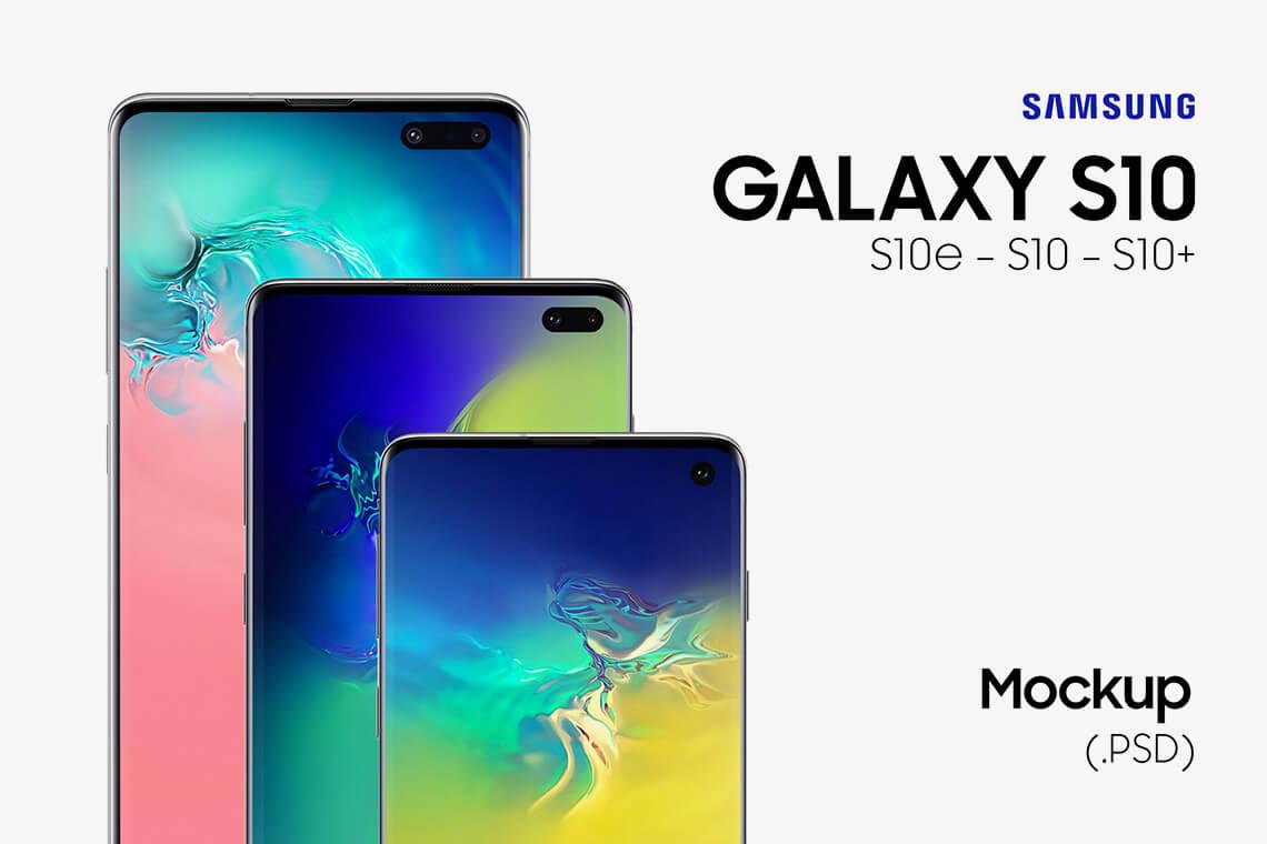 Samsung Galaxy S10 Free PSD Mockups