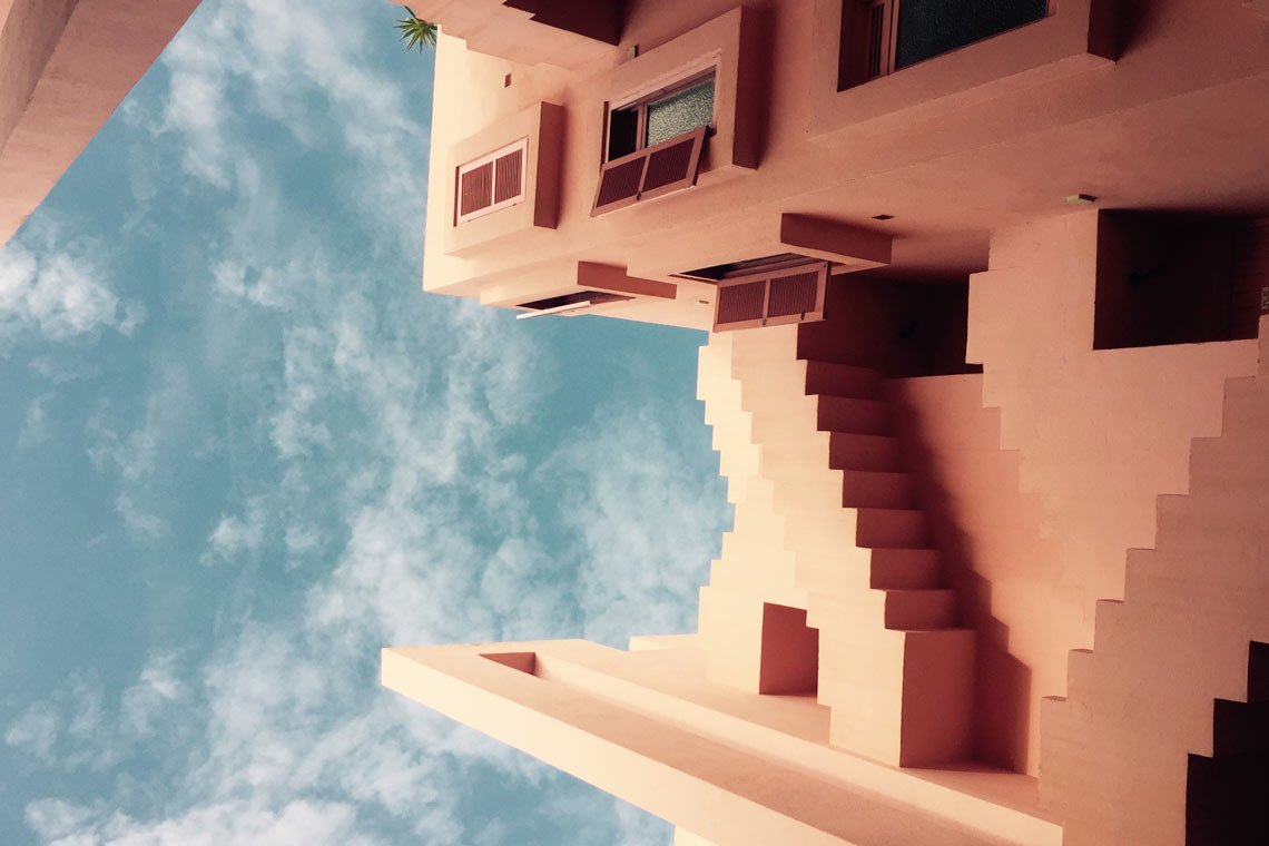 Stairs in the sky wallpaper by @beasty