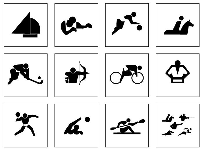 Tokyo 1964 pictograms