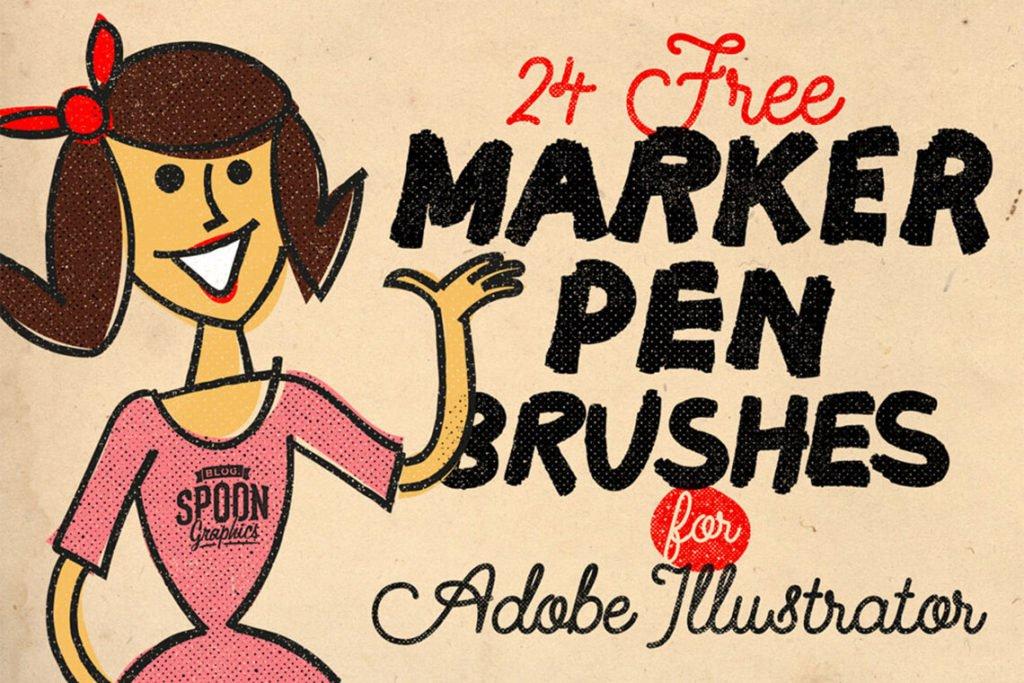 🔥 Best Free & Premium Illustrator Brushes on The Designest