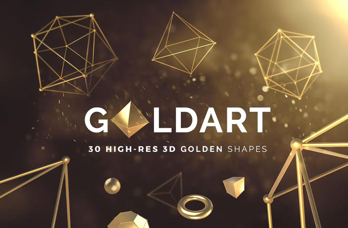 3D Golden Shapes