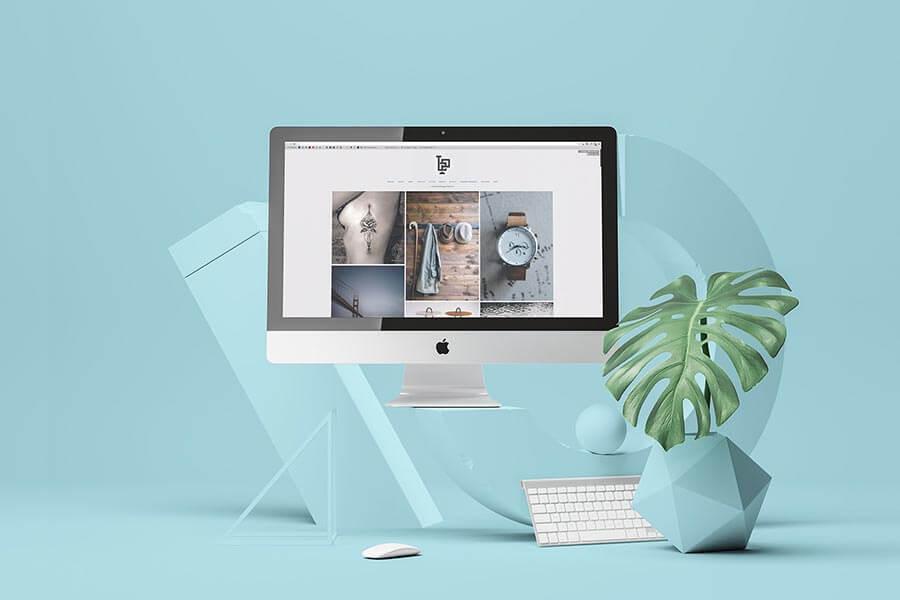 Abstract iMac & MacBook Mockup Set