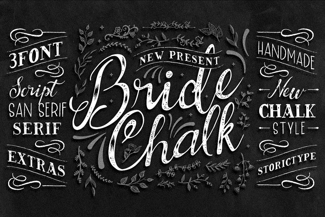 BrideChalk Typeface