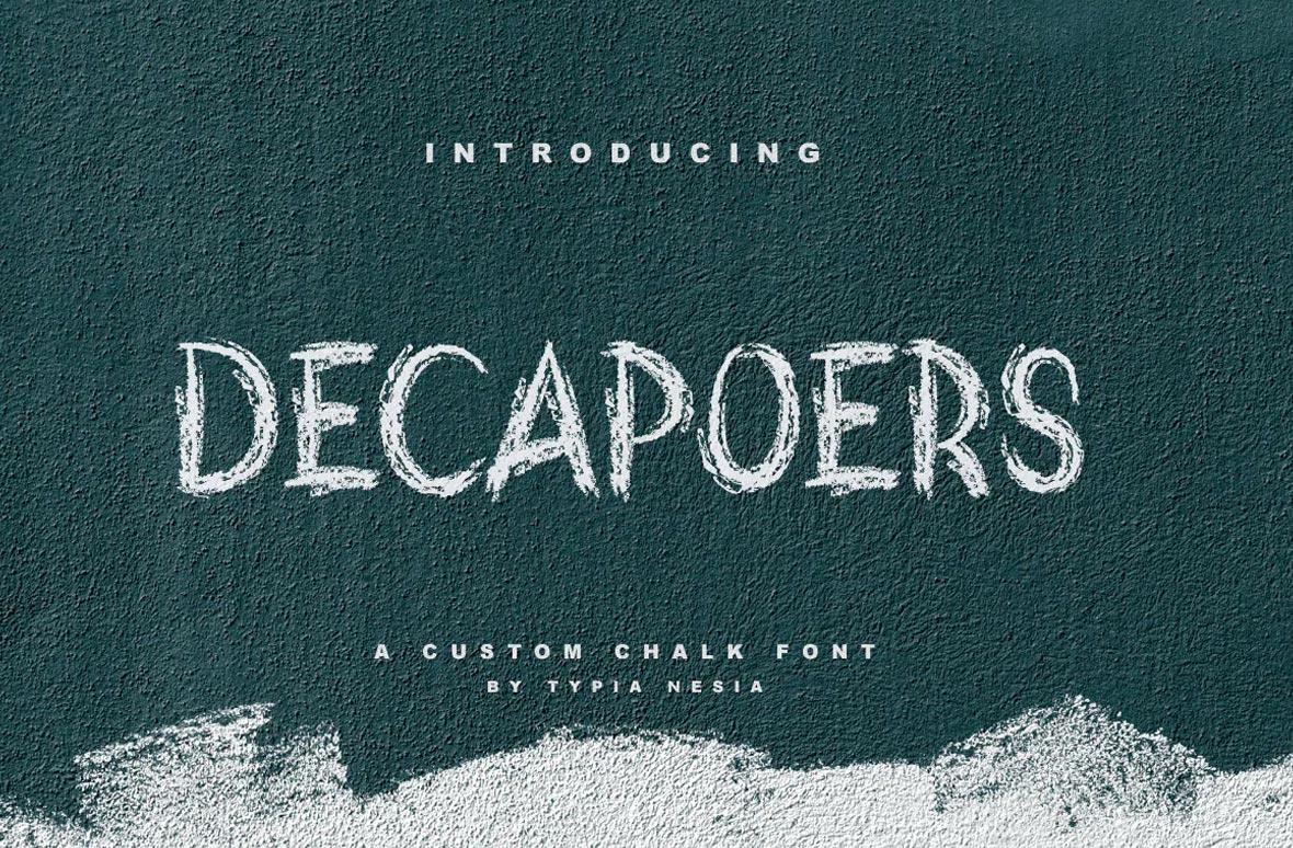 DeCapoers Chalk Font