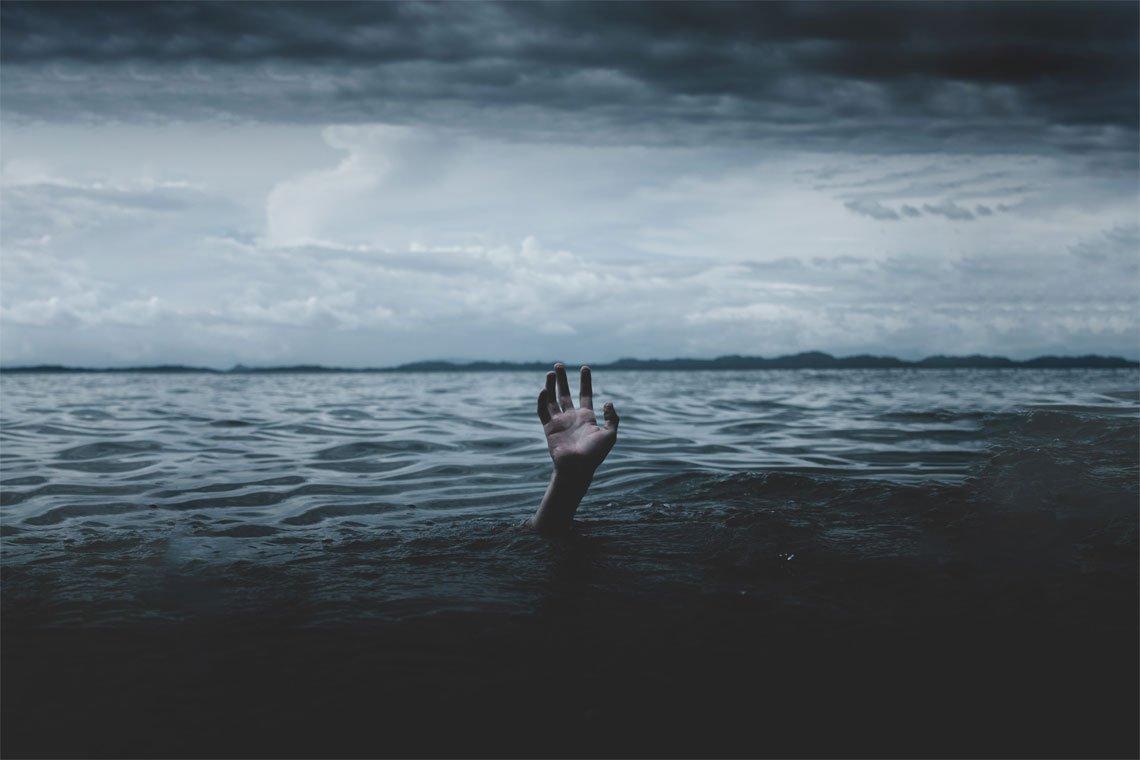 Drowning man by Ian Espinosa