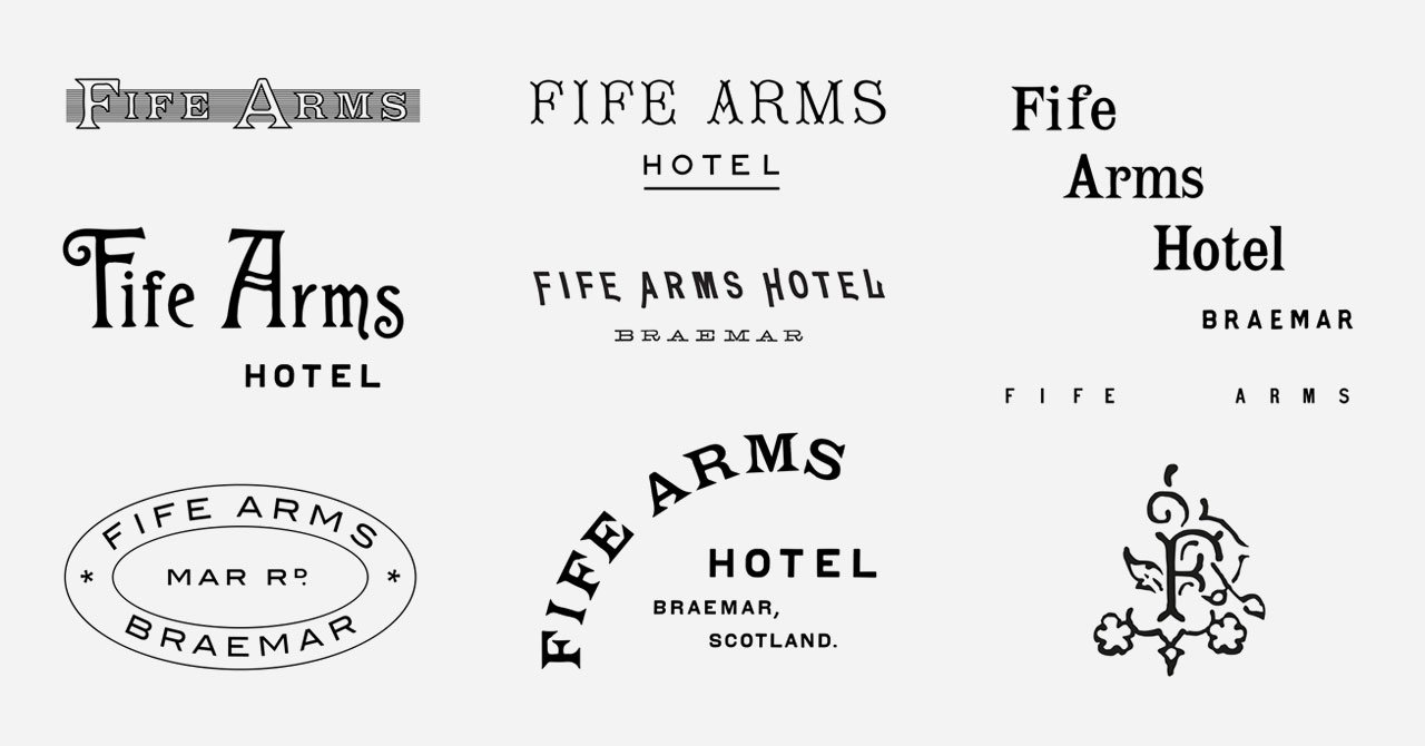Fife Arms Hotel Logo System